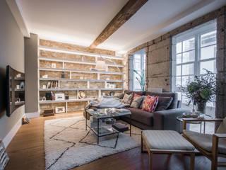 15oo1 puntodefuga ESTUDIO Salones de estilo minimalista Piedra