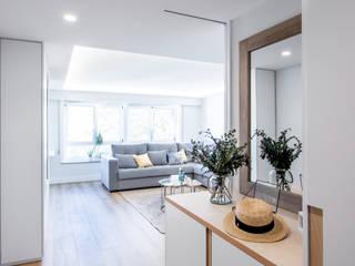 15o1o puntodefuga ESTUDIO Pasillos, vestíbulos y escaleras de estilo minimalista