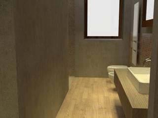 casa privata, ristrutturazione con ampliamento: Bagno in stile  di chiara gandolfi architetto, Minimalista