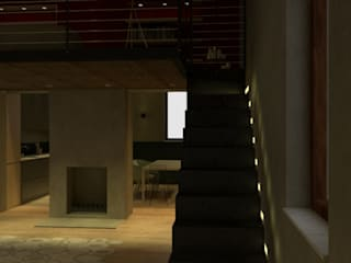 casa privata, ristrutturazione con ampliamento: Soggiorno in stile  di chiara gandolfi architetto, Eclettico