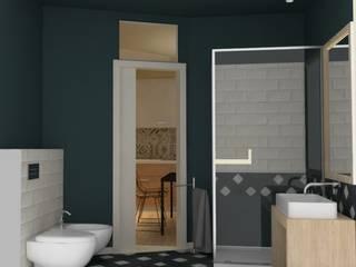 appartamento, ristrutturazione integrale, render: Bagno in stile  di chiara gandolfi architetto, Moderno