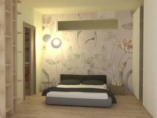 appartamento, ristrutturazione integrale, render: Camera da letto in stile  di chiara gandolfi architetto, Moderno