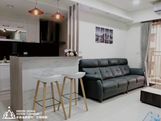 Salas / recibidores de estilo  por 禾森系統傢具.空間規劃, Minimalista