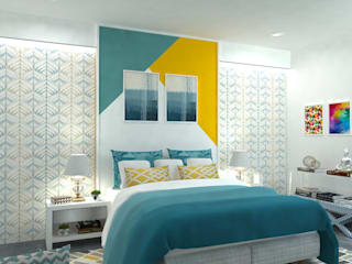 Maayish Architects BedroomBeds & headboards Yellow