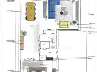 Interieurontwerp woonkamer Den Haag:  Woonkamer door Huyze de Tulp