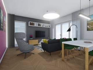 Wnętrza mieszkania pod Wrocławiem Nowoczesny salon od 2arch architektura Nowoczesny