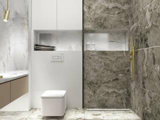 RIVER LANE_47m2 Nowoczesna łazienka od 91m2 Architektura Wnętrz Nowoczesny
