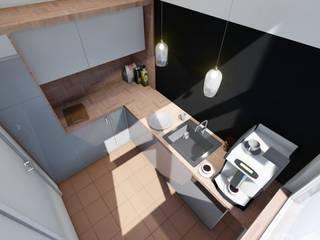 Mała kuchnia od 2arch architektura Nowoczesny