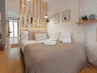 Rafaela Fraga Brás Design de Interiores & Homestyling Small bedroom Beige