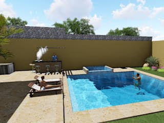 casa privada Campeche:  de estilo  por coprefa