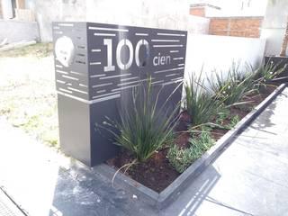 Número Exterior Personalizado de Fire & Wood Moderno