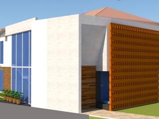 RESIDENCIA BUGAMBILIAS: Casas de estilo  por henekenarq