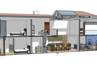 RESIDENCIA BUGAMBILIAS Dormitorios modernos de henekenarq Moderno