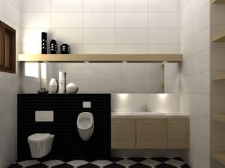 Baños de estilo moderno de 明景空間設計工作室 Moderno