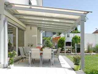 Terrassenüberdachung Moderner Balkon, Veranda & Terrasse von Markisen Zanker im Raum Stuttgart Modern