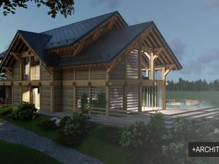 Projekt budynku mieszkalnego od Pracownia Projektowa '+ARCHITEKTURA' mgr inż. arch. Maciej Kubicki Skandynawski