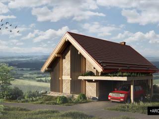 Projekt budynku mieszkalnego jednorodzinnego od Pracownia Projektowa '+ARCHITEKTURA' mgr inż. arch. Maciej Kubicki Skandynawski