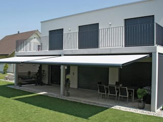 Vollkassetten-Markise Moderner Balkon, Veranda & Terrasse von Markisen Zanker im Raum Stuttgart Modern