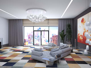 Living room by Андреевы.РФ,