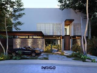 Detached home by Indigo Diseño y Arquitectura, Tropical