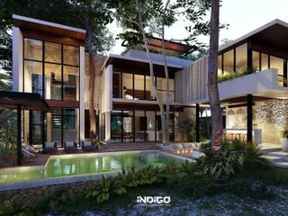 Garden by Indigo Diseño y Arquitectura, Tropical
