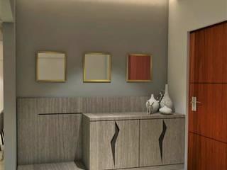 Entry Foyer:  Corridor & hallway by Area Planz Design