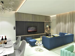Living Room:  Living room by Area Planz Design