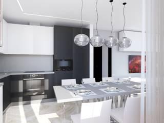 Квартира 76,8 кв. м в Москве Кухня в стиле модерн от Андреевы.РФ Модерн