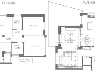 Pasillos, vestíbulos y escaleras modernos de Formaementis Moderno