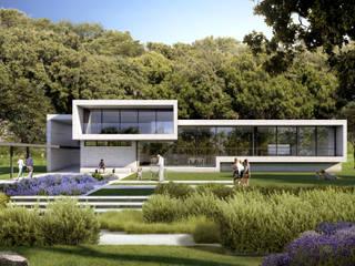 Edificio Dotacional: Casas unifamilares de estilo  de ARQZONE 3D+Design Studio