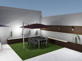 Projeto de Jardim de Moradia em banda em Vieira do Minho Jardins modernos por R&U ATELIER LDA Moderno