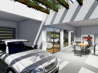 Casa Balcón: Terrazas de estilo  por Arquitectura 2046