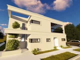 Casa Balcón: Casas unifamiliares de estilo  por Arquitectura 2046