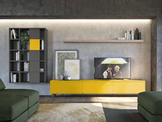 Soggiorni moderni design made in Italy: Soggiorno in stile  di nuovimondi di Flli Unia snc
