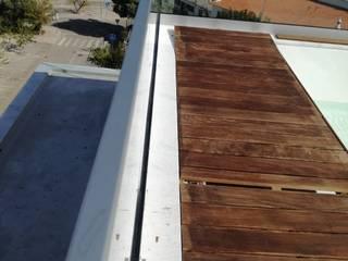 Lux Terrace - Alta de Faro Varandas, marquises e terraços modernos por SAM'S - Soluções em alumínio e PVC Moderno