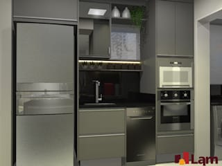 Small kitchens by LAM Arquitetura   Interiores, Modern