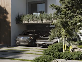 Visualización Casa San Arturo de C+M DESIGN Moderno