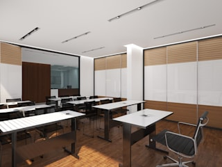 Community centre design in contemporary neutral style Modern study/office by Rhythm And Emphasis Design Studio Modern