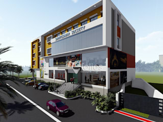 Commercial Building @ Vijayapura:   by Cfolios Design And Construction Solutions Pvt Ltd