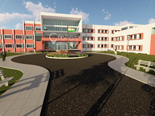 Gurukul School, Tikota (Babanagar):   by Cfolios Design And Construction Solutions Pvt Ltd