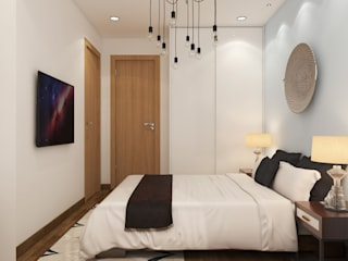 Rhythm And Emphasis Design Studio Minimalist bedroom