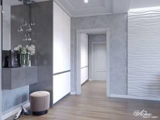 Дизайн двухкомнатной квартиры (ЖК Европейский) Коридор, прихожая и лестница в классическом стиле от Дизайн-студия 'Абрис' Классический