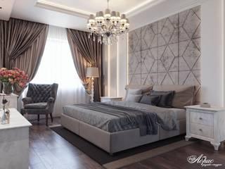 Дизайн интерьера спальни (ул. Учительская) Спальня в классическом стиле от Дизайн-студия 'Абрис' Классический
