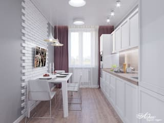 Scandinavian style kitchen by Дизайн-студия 'Абрис' Scandinavian