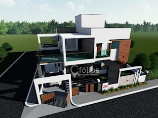 Residential Bungalow @ Bidar:   by Cfolios Design And Construction Solutions Pvt Ltd