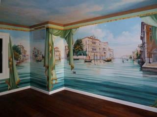 Venezia :  in stile  di erica de rosa, dipinti, affreschi, trompe l'oeil,  decorazioni - Venezia
