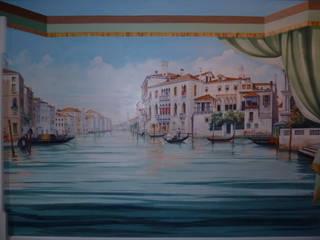 Venezia:  in stile  di erica de rosa, dipinti, affreschi, trompe l'oeil,  decorazioni - Venezia