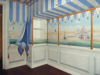 Veduta di Venezia :  in stile  di erica de rosa, dipinti, affreschi, trompe l'oeil,  decorazioni - Venezia