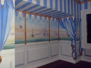 Veduta di Venezia.:  in stile  di erica de rosa, dipinti, affreschi, trompe l'oeil,  decorazioni - Venezia