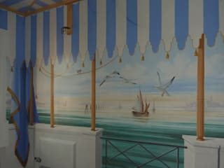 Veduta di Venezia, laguna:  in stile  di erica de rosa, dipinti, affreschi, trompe l'oeil,  decorazioni - Venezia
